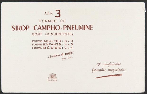 buvard publicitaire - LES 3 FORMES DE SIROP CAMPHO-PNEUMINE