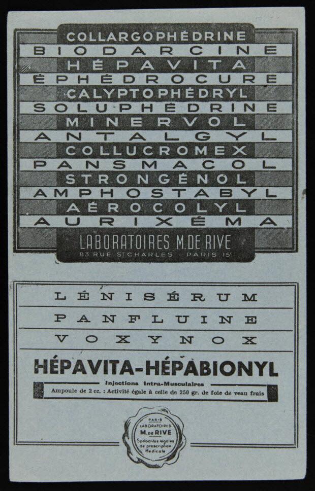 buvard publicitaire - HEPAVITA-HEPABIONYL