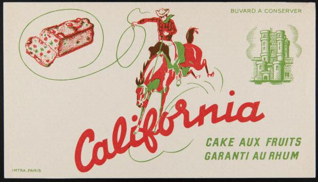 buvard publicitaire - California