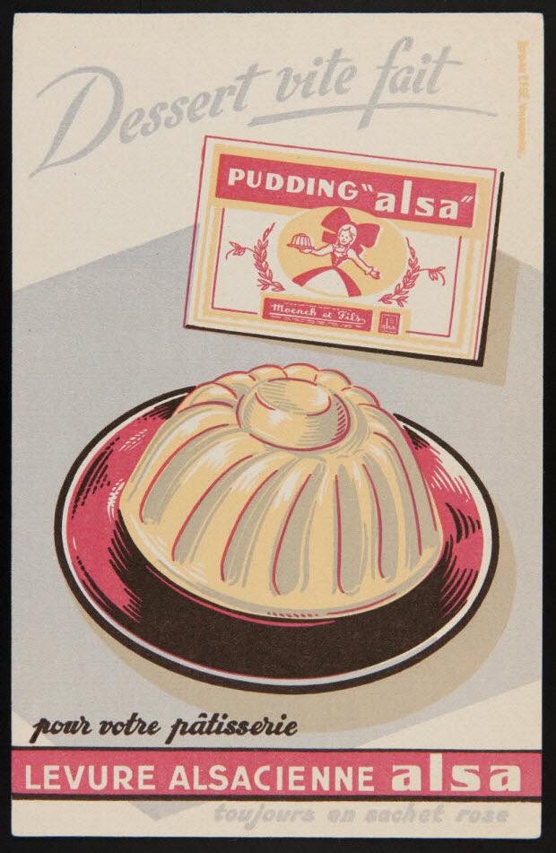 buvard publicitaire - pour votre pâtisserie LEVURE ALSACIENNE alsa