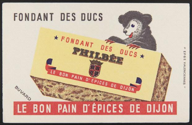buvard publicitaire - FONDANT DES DUCS PHILBEE