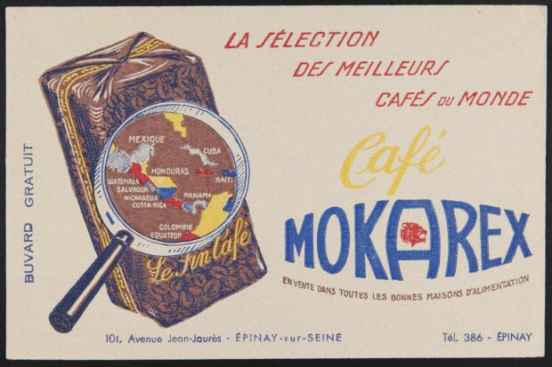 buvard publicitaire - Café MOKAREX