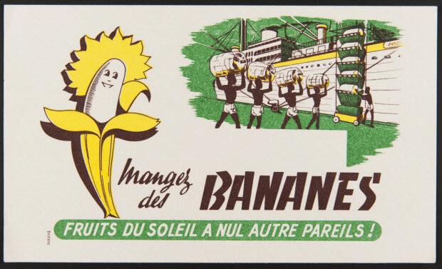buvard publicitaire - Mangez des BANANES