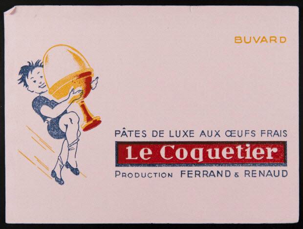 buvard publicitaire - PÂTES DE LUXE AUX OEUFS FRAIS Le Coquetier