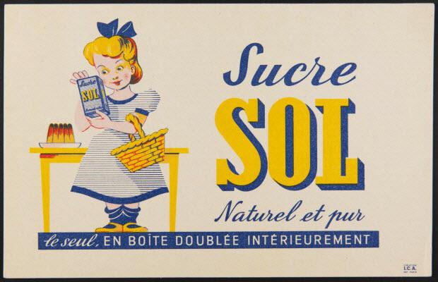 buvard publicitaire - Sucre SOL Naturel et pur