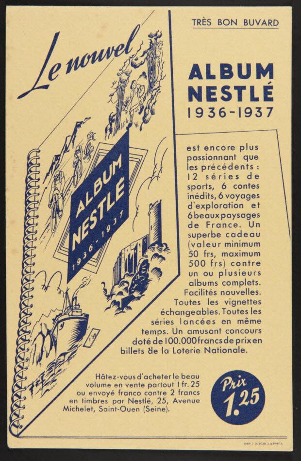 buvard publicitaire - ALBUM NESTLE 1936-1937
