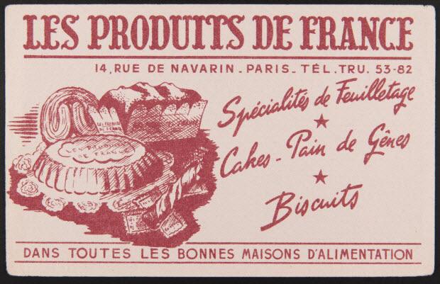 buvard publicitaire - LES PRODUITS DE FRANCE