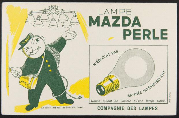 buvard publicitaire - LAMPE MAZDA PERLE