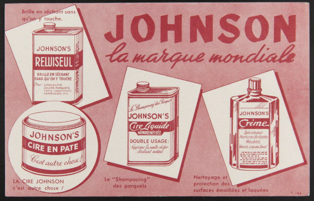 buvard publicitaire - JOHNSON la marque mondiale
