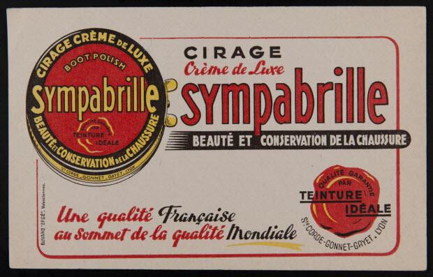 buvard publicitaire - CIRAGE Crème de Luxe sympabrille