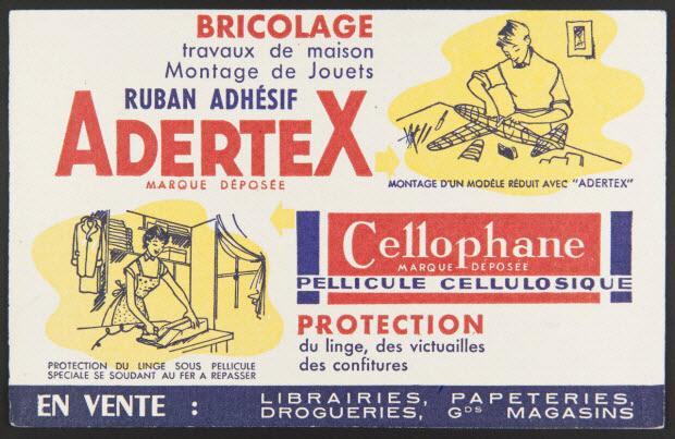 buvard publicitaire - RUBAN ADHESIF ADERTEX MARQUE DEPOSEE