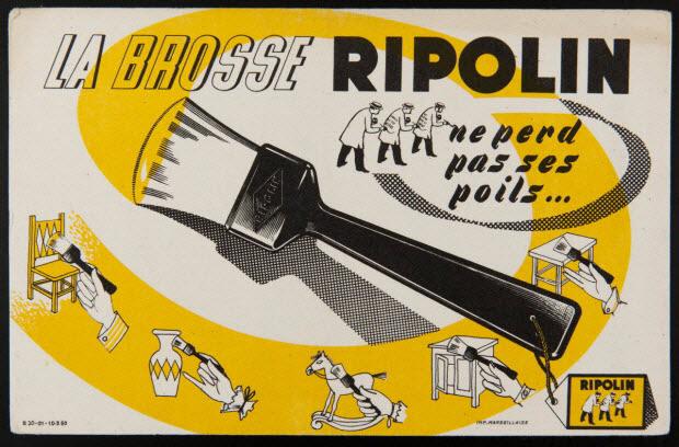 buvard publicitaire - LA BROSSE RIPOLIN