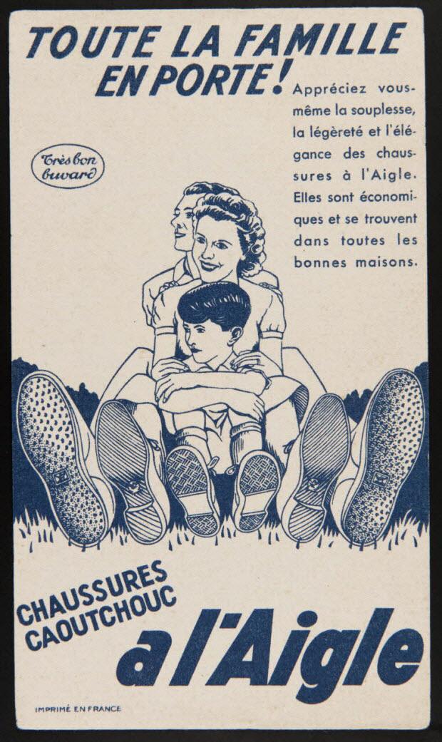 buvard publicitaire - CHAUSSURES CAOUTCHOUC a l'Aigle