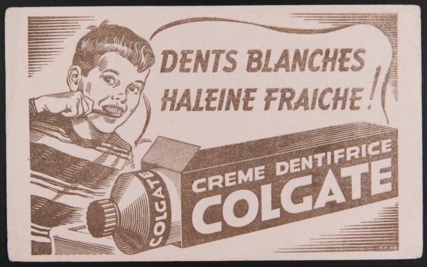 buvard publicitaire - DENTS BLANCHES HALEINE FRAICHE !