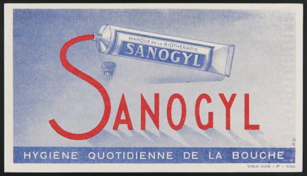 buvard publicitaire - SANOGYL HYGIENE QUOTIDIENNE DE LA BOUCHE