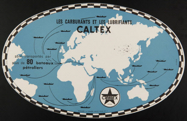 buvard publicitaire - LES CARBURANTS ET LES LUBRIFIANTS CALTEX