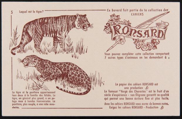 buvard publicitaire - Ce buvard fait partie de la collection des CAHIERS RONSARD