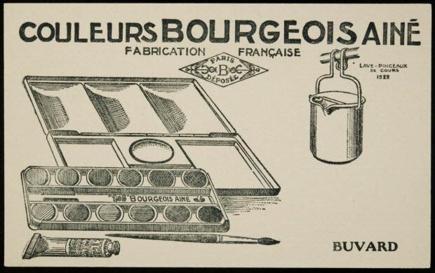 buvard publicitaire - COULEURS BOURGEOIS AINE