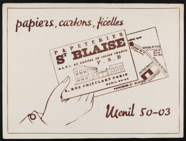 buvard publicitaire - papiers, cartons, ficelles