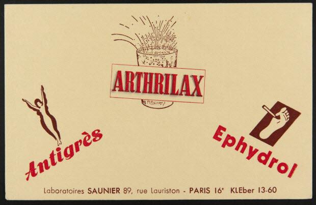 buvard publicitaire - ARTHRILAX