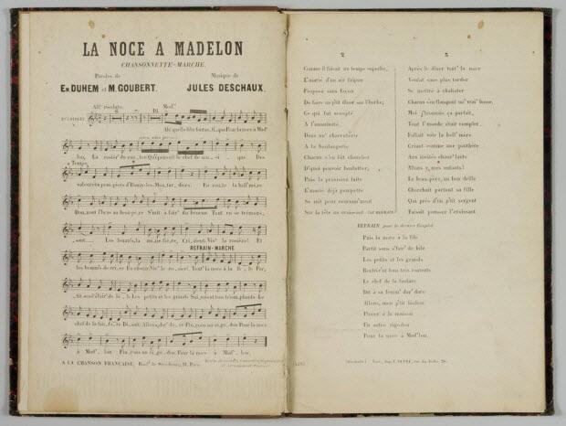 album - LA NOCE A MADELON Chansonnette - Marche