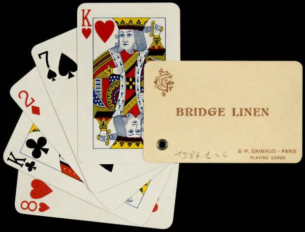 cartes à jouer - BRIDGE LINEN B.-P. GRIMAUD - PARIS PLAYING CARDS