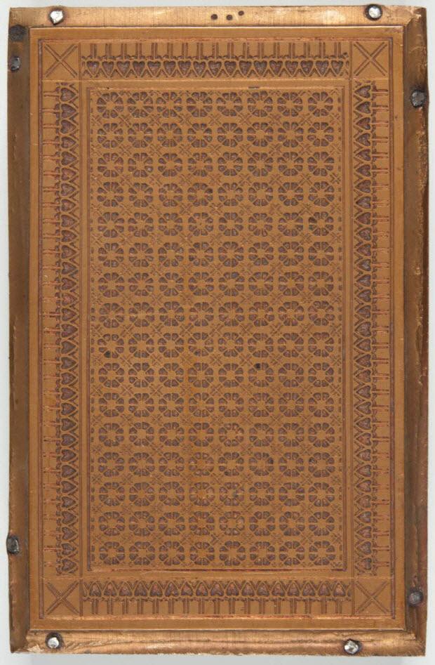 bois d'impression - Dos de carte à jouer à décor géométrique