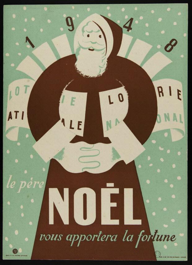 affiche - le père NOEL vous apportera la fortune