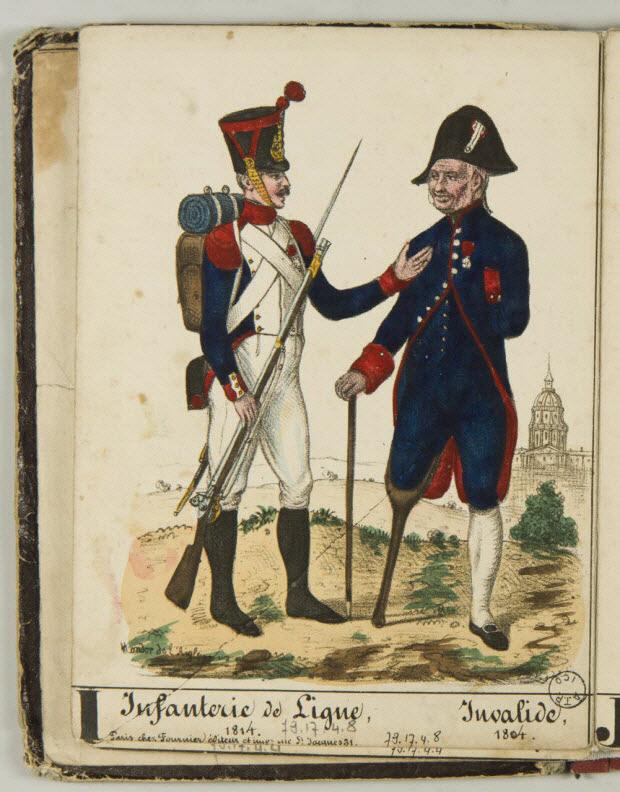 album - Infanterie de Ligne, 1814. Invalide, 1804.
