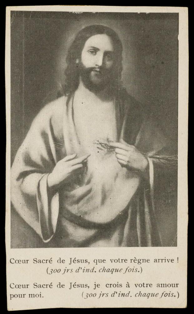 estampe - Coeur Sacré de Jésus, que votre règne arrive !