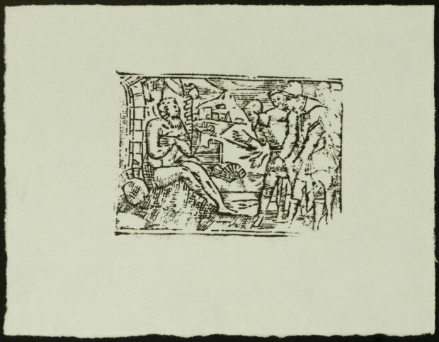 estampe - Scène biblique