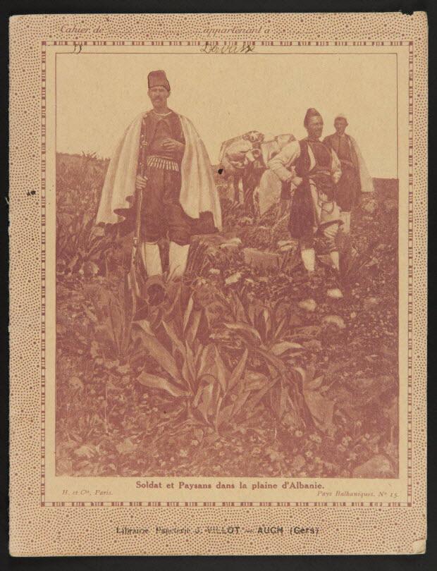 estampe - Soldat et Paysans dans la plaine d'Albanie.