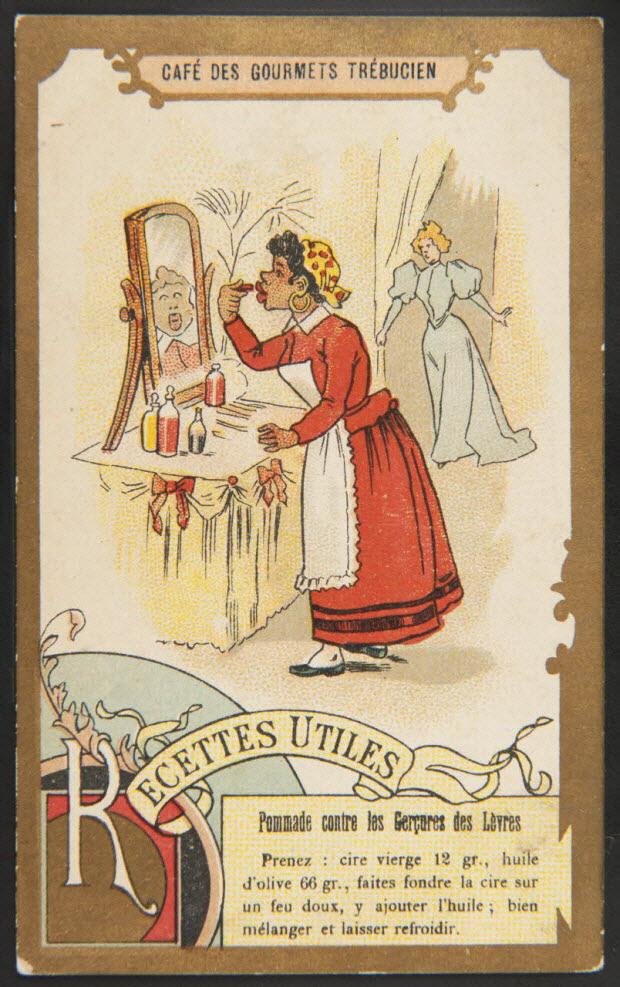 carte réclame - Pommade contre les Gerçures des Lèvres