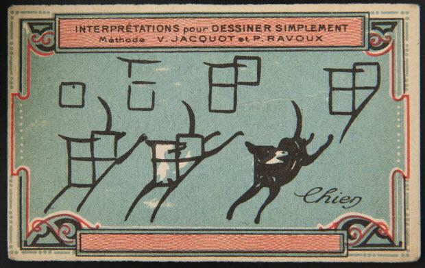 carte réclame - Interprétations pour Dessiner Simplement Méthode V. JACQUOT ET P. RAVOUX Chien