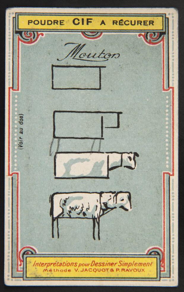 carte réclame - Interprétations pour Dessiner Simplement Méthode V. JACQUOT ET P. RAVOUX