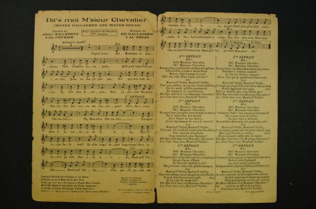 partition de musique - Dit's moi m'sieur Chevalier !
