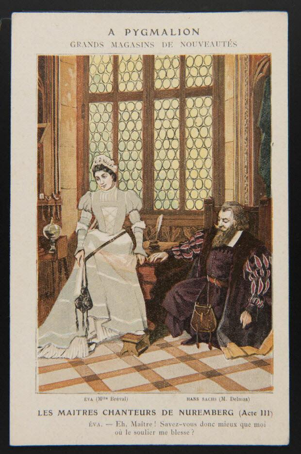 carte réclame - LES MAITRES CHANTEURS DE NUREMBERG (Acte III)