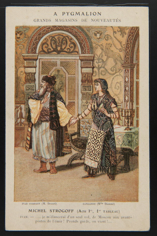carte réclame - MICHEL STROGOFF (Acte Ier, 1er TABLEAU)
