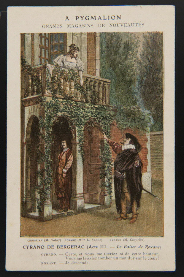 carte réclame - CYRANO DE BERGERAC (Acte III. - Le Baiser de Roxane)