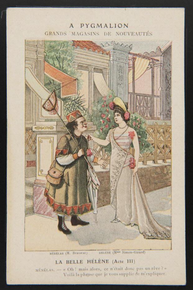 carte réclame - LA BELLE HELENE (Acte III)