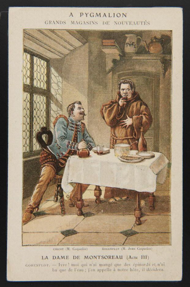 carte réclame - LA DAME DE MONTSOREAU (Acte III)