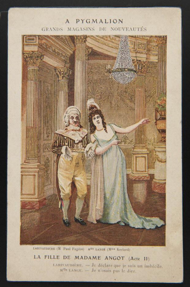 carte réclame - LA FILLE DE MADAME ANGOT (Acte II)
