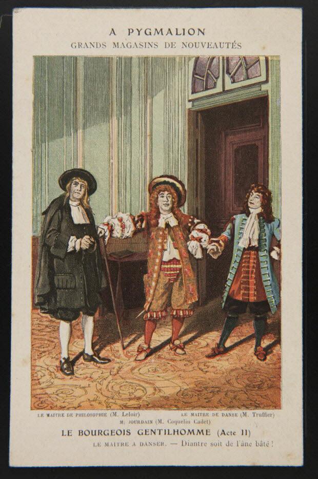 carte réclame - LE BOURGEOIS GENTILHOMME (Acte II)