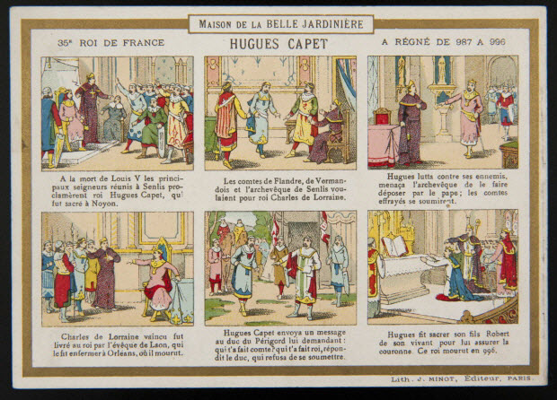 carte réclame - 35E ROI DE FRANCE HUGUES CAPET A REGNE DE 987 A 996