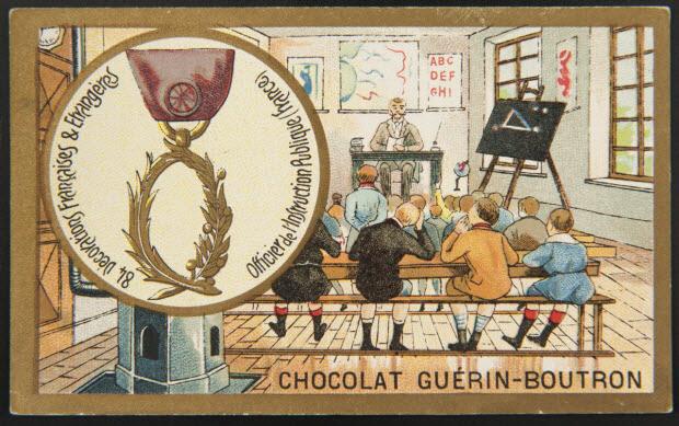 carte réclame - 84 Décorations Françaises & Etrangères Officier de l'Instruction Publique (France)