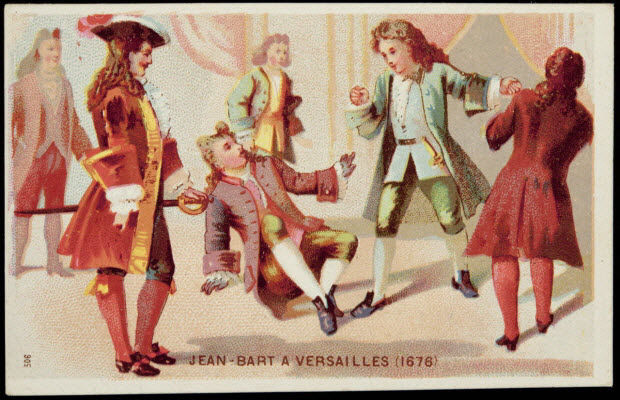 carte réclame - JEAN-BART A VERSAILLES (1676)