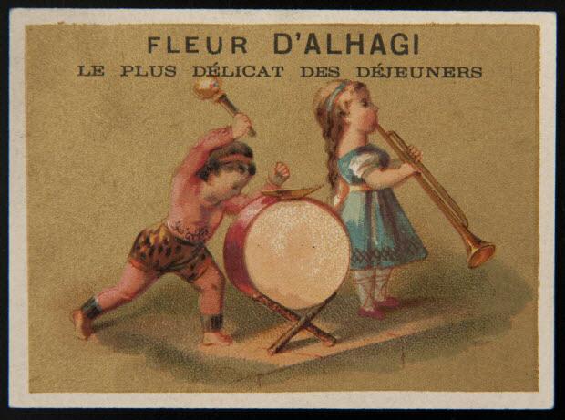 carte réclame - Musiciens