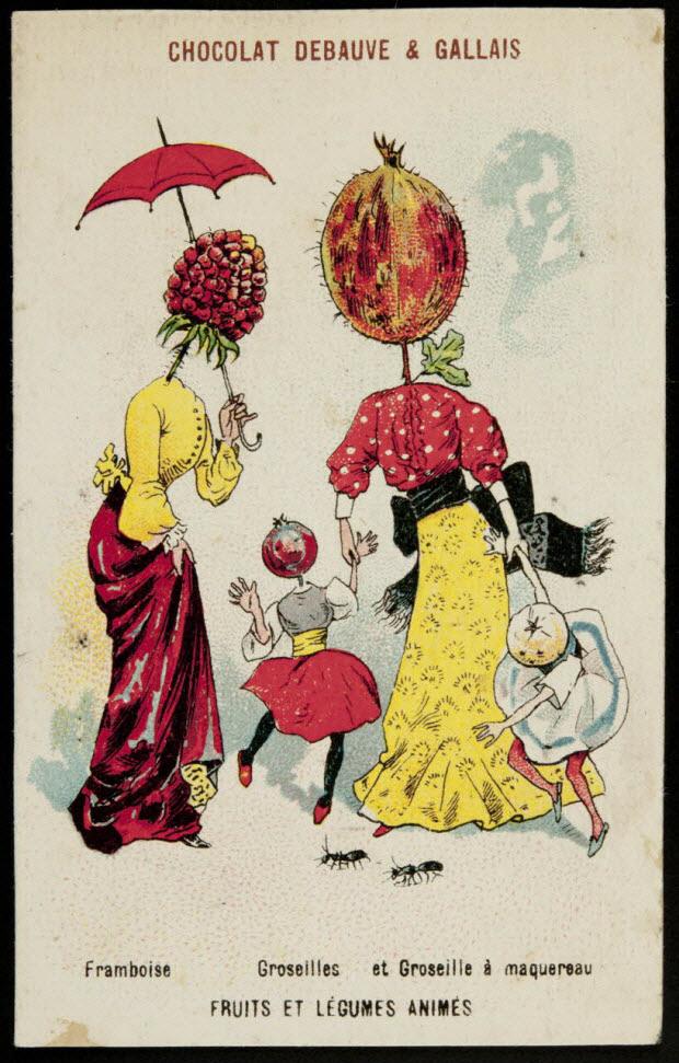 carte réclame - Framboise Groseilles et Groseille à maquereau