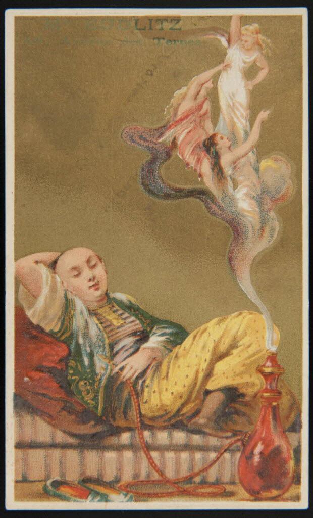 carte réclame - (A) Le Narguille du Chinois (B) La Narghile