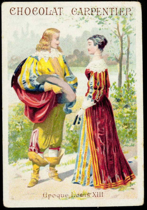 carte réclame - Epoque Louis XIII